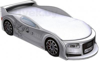 Детская кровать-машинка МебеЛев Ауди А4-М (белая) - общий вид