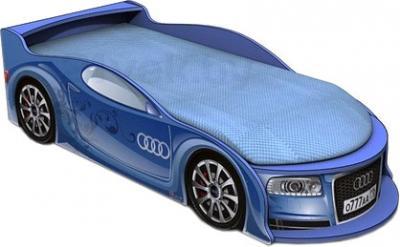 Детская кровать-машинка МебеЛев Ауди А4-М (синяя) - общий вид