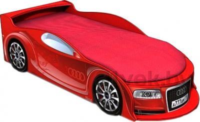 Детская кровать-машинка МебеЛев Ауди А4-М (красная) - общий вид