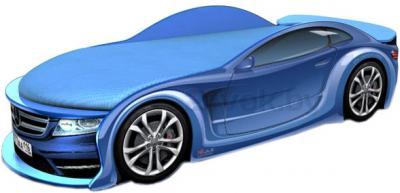 Детская кровать-машинка МебеЛев Мерседес-М MB-M (синяя) - общий вид