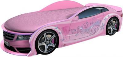 Детская кровать-машинка МебеЛев Мерседес-М MB-M (розовая) - общий вид