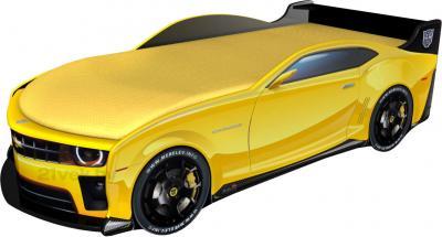 Детская кровать-машинка МебеЛев Шевроле Камаро (желтая) - общий вид