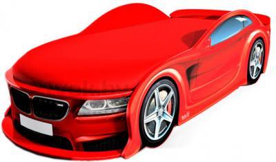 Детская кровать-машинка МебеЛев BMW-М (красная) - общий вид