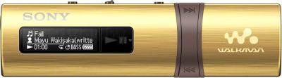 USB-плеер Sony NWZ-B183F (золотой) - общий вид