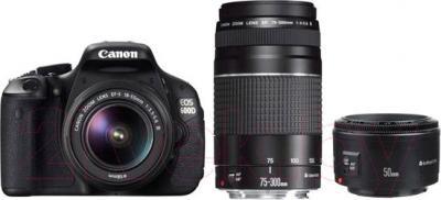 Зеркальный фотоаппарат Canon EOS 600D Triple Kit 18-55mm IS II + 75-300mm III USM + 50mm - общий вид