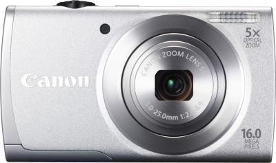 Компактный фотоаппарат Canon PowerShot A2600 (Silver) - вид спереди