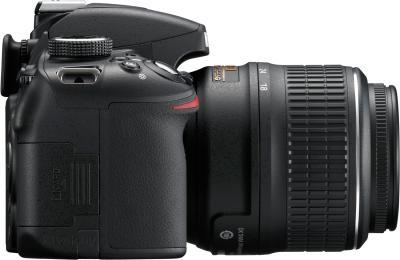 Зеркальный фотоаппарат Nikon D3200 Kit 18-55mm II (черный) - вид сбоку