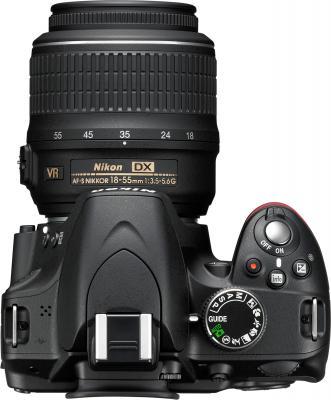 Зеркальный фотоаппарат Nikon D3200 Kit 18-55mm II (черный) - вид сверху