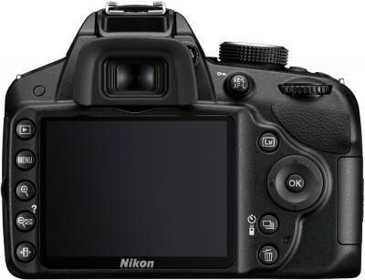 Зеркальный фотоаппарат Nikon D3200 Kit 18-55mm II (черный) - вид сзади