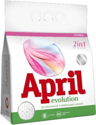 Стиральный порошок April Evolution 2 в 1 с кондиционером (2кг) - общий вид