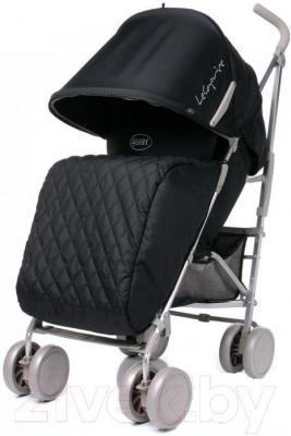 Детская прогулочная коляска 4Baby Le Caprice (черный) - вполоборота
