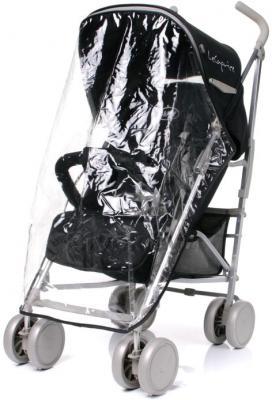 Детская прогулочная коляска 4Baby Le Caprice (красный) - дождевик (цвет Black)