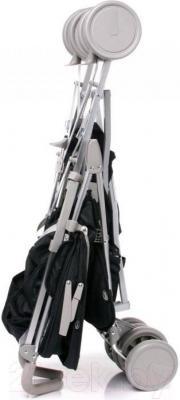 Детская прогулочная коляска 4Baby Le Caprice (синий) - в сложенном виде