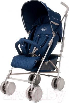 Детская прогулочная коляска 4Baby Le Caprice (синий) - общий вид