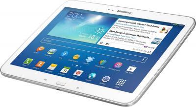 Планшет Samsung Galaxy Tab 3 10.1 32GB 3G White (GT-P5200) - полубоком