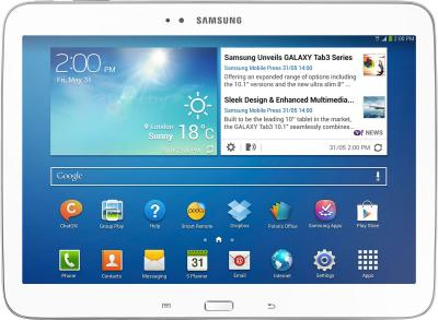 Планшет Samsung Galaxy Tab 3 10.1 32GB 3G White (GT-P5200) - фронтальный вид