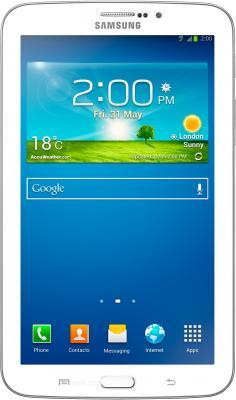 Планшет Samsung Galaxy Tab 3 7.0 16GB Pearl White (SM-T210) - фронтальный вид
