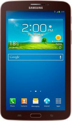 Планшет Samsung Galaxy Tab 3 7.0 16GB 3G Gold Brown (SM-T211) - фронтальный вид