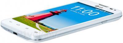 Смартфон LG L65 D285 (белый) - вид лежа