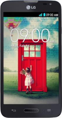Смартфон LG L70 / D320 (черный) - общий вид