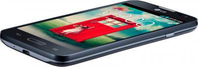 Смартфон LG L70 / D320 (черный) - вид лежа