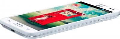 Смартфон LG L70 / D320 (белый) - вид лежа
