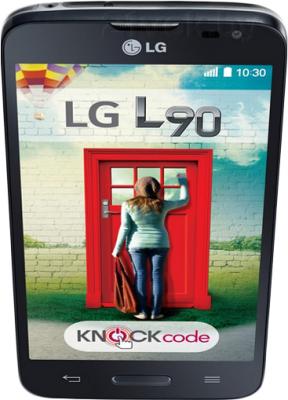 Смартфон LG L90 / D405 (черный) - вид сверху