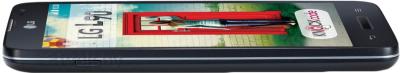 Смартфон LG L90 / D405 (черный) - вид сбоку