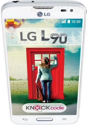 Смартфон LG L90 / D405 (белый) - вид сверху