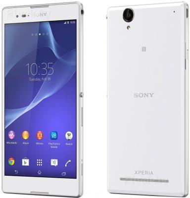 Смартфон Sony Xperia T2 Ultra Dual / D5322 (белый) - передняя и задняя панели