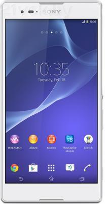 Смартфон Sony Xperia T2 Ultra Dual / D5322 (белый) - общий вид