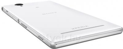 Смартфон Sony Xperia T2 Ultra Dual / D5322 (белый) - вид лежа