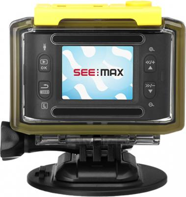 Экшн-камера SeeMax DVR RG700 Pro - вид сзади в боксе