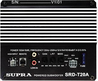 Корпусной активный сабвуфер Supra SRD-T20A - вид сзади