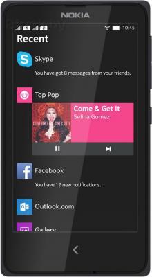 Смартфон Nokia X (Black) - общий вид