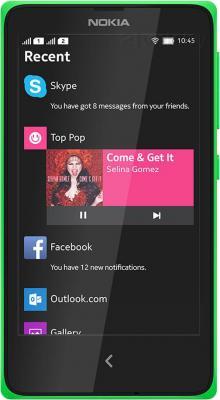 Смартфон Nokia X (зеленый) - общий вид