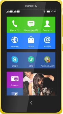 Смартфон Nokia X (желтый) - общий вид