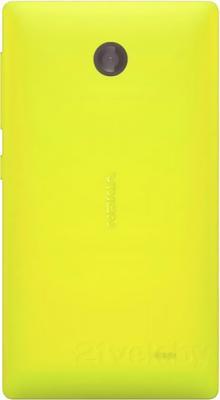 Смартфон Nokia X (желтый) - задняя панель