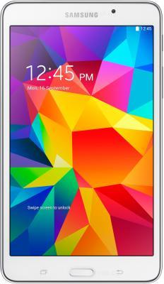 Планшет Samsung Galaxy Tab 4 7.0 / SM-T231 (3G, белый) - фронтальный вид
