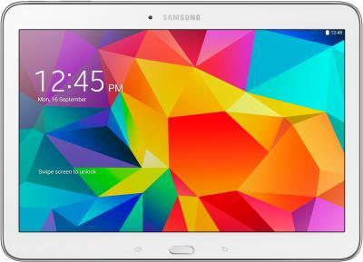 Планшет Samsung Galaxy Tab 4 10.1 16GB 3G / SM-T531 (белый) - фронтальный вид