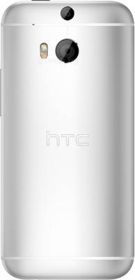 Смартфон HTC One / M8 (серебристый) - вид сзади