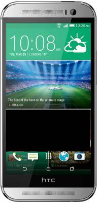 Смартфон HTC One / M8 (серебристый) - общий вид