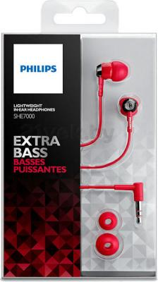 Наушники Philips SHE7000/10 (Red) - упаковка