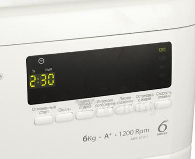 Стиральная машина Whirlpool AWS61211 - дисплей