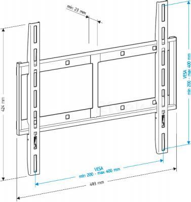 Кронштейн для телевизора Holder LCD-F4610-B - габаритные размеры