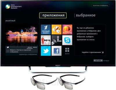 Телевизор Sony KDL-42W828B - с очками