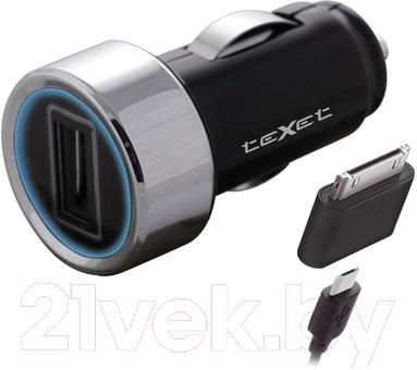 Автомобильное зарядное устройство TeXet TPC-1007 (черный)