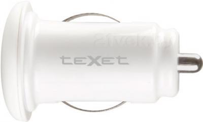 Автомобильное зарядное устройство TeXet TPC-1003 (White) - вид сбоку