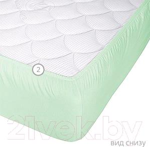Наматрасник Vegas Protect Cotton S1 160х200 (фисташковый) - вид снизу
