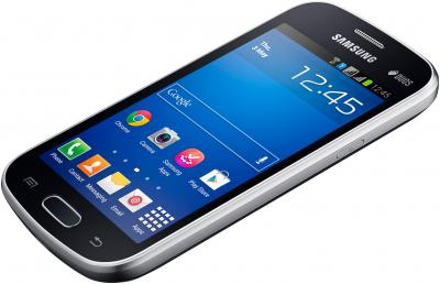 Смартфон Samsung S7392 Galaxy Trend Duos (Black) - вид лежа